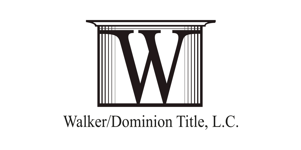 Walker / Dominion Title Logo