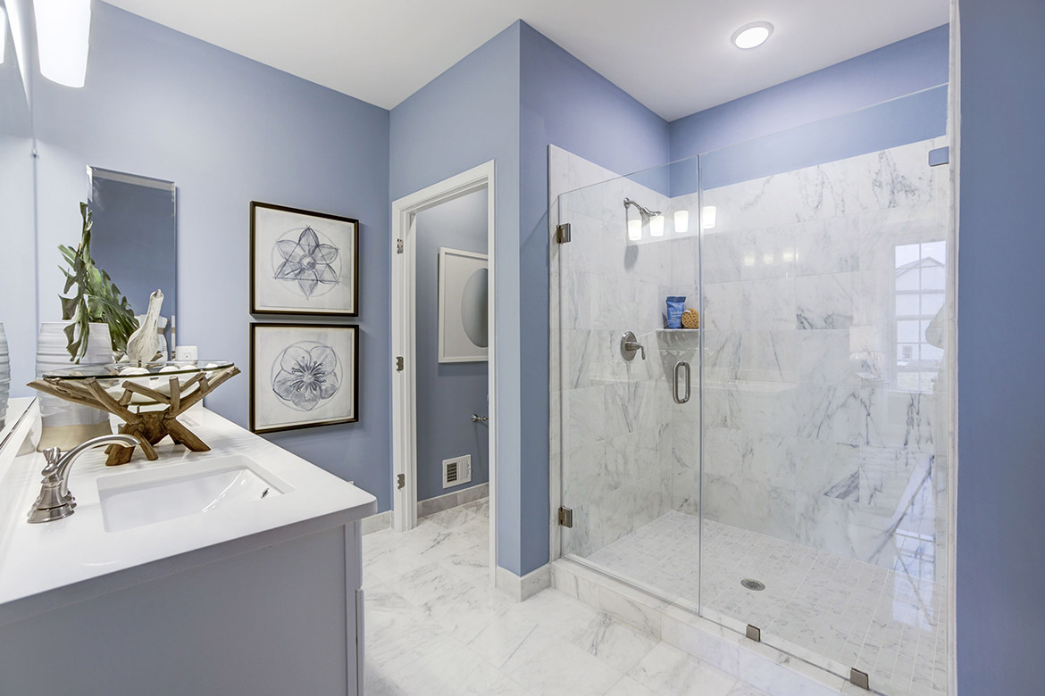 Crest of Alexandria Ward Model Master Bathroom