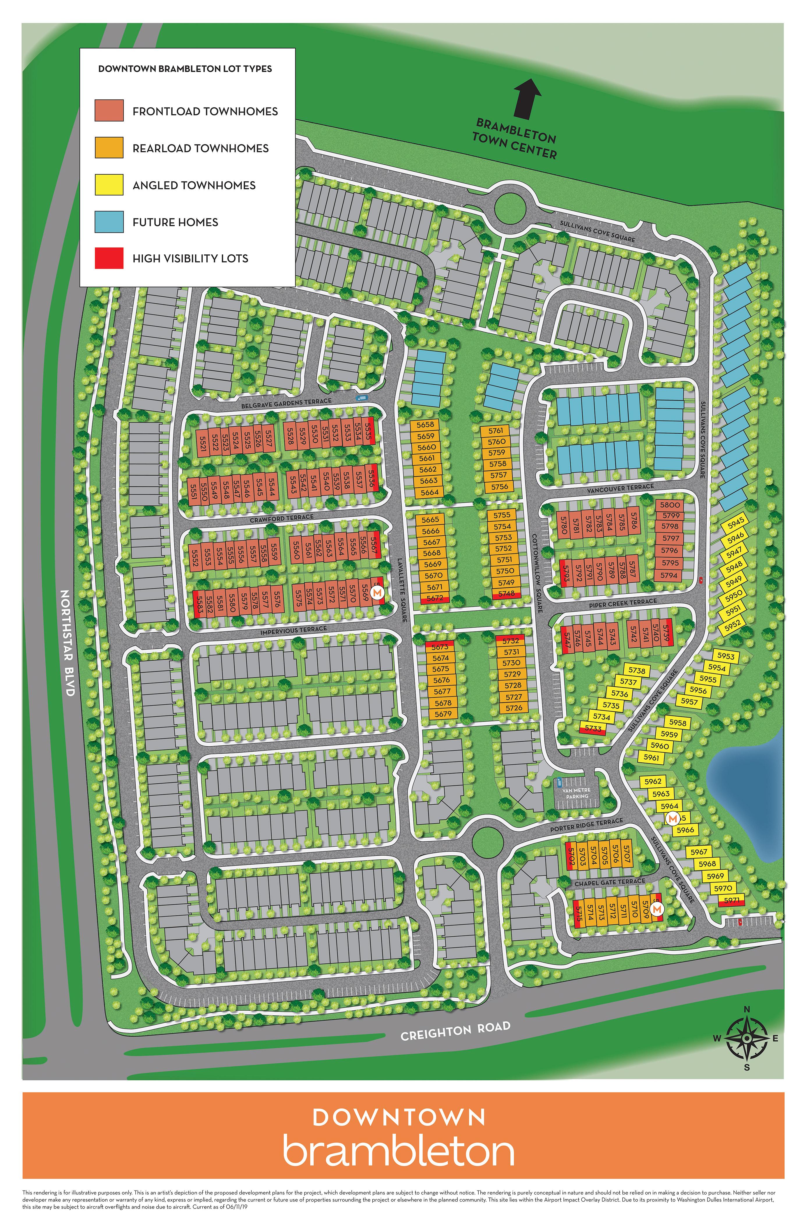 Site Plan Downtown Brambleton Van Metre Homes