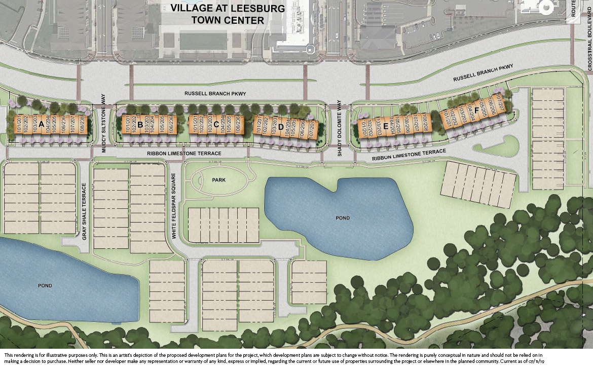 Lofts at Village Walk Overall Site Plan