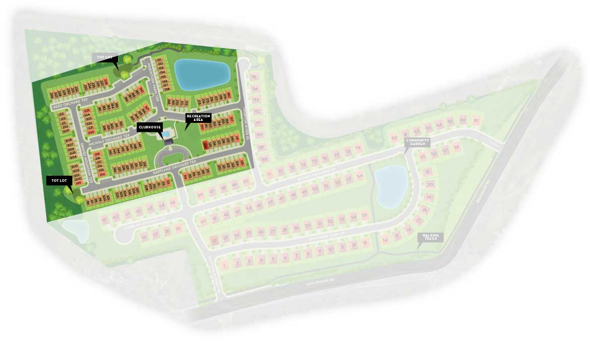 Prosperity Plains - Townhomes Site Map