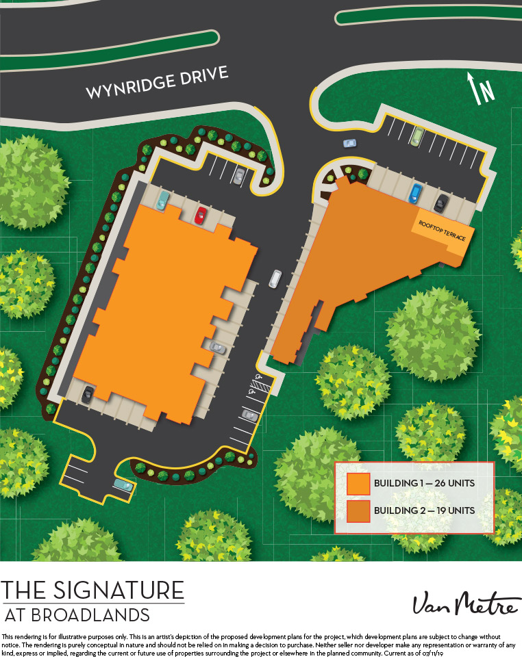 Signature at Broadlands Condominium Building Site Plan