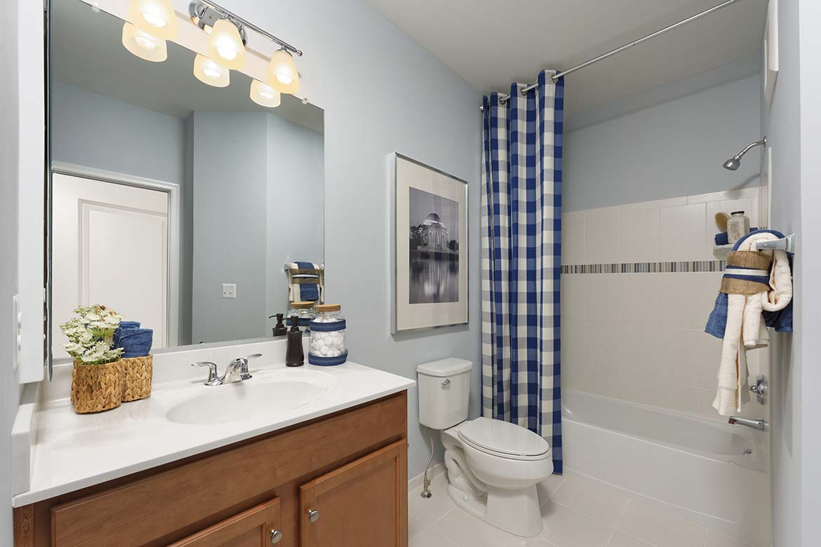 Stone Mill Corner Hall Bathroom